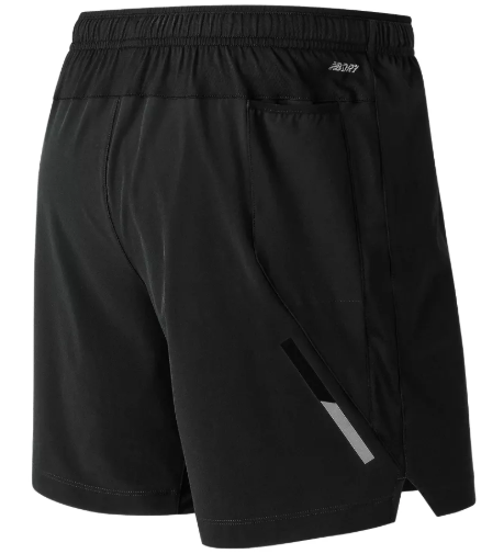 "New Balance Impact Short 7"" (SKU: MS81265.BK)"
