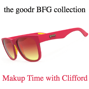 493ce2dd2c90 Sold Out Goodr Sunglasses, BFG Collection: Makeup Time with Clifford (SKU:  goodr-mtwc