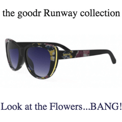 Goodr Sunglasses, Runway Collection: Look at the Flowers...Bang! (SKU: goodr-latfb)