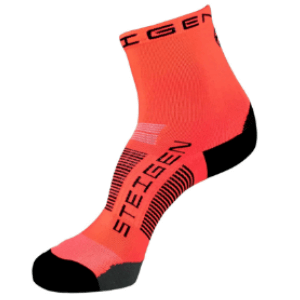 Steigen Performance Sock, Half Length (SKU: 001frH-FluoroRed)