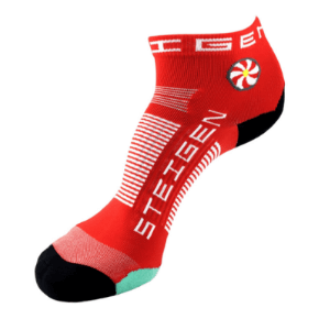 Steigen Performance Sock, Quarter Length (SKU: 001CR-CherryRed)