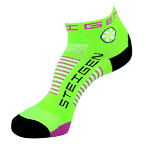 Steigen Performance Sock, Quarter Length (SKU: 001FG-FluroGreen)