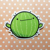 Spiky McSpikeface the Cactus Vinyl Sticker