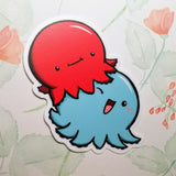 Inky & Winky the Octopi Vinyl Sticker