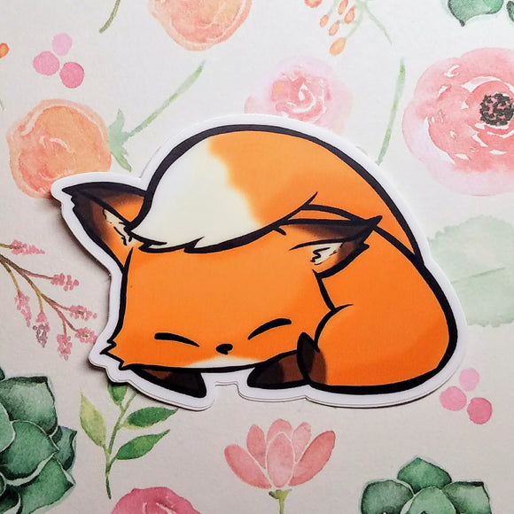 Sleepy Flurfles the Fox Vinyl Sticker