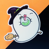 Ghost Witch Vinyl Sticker