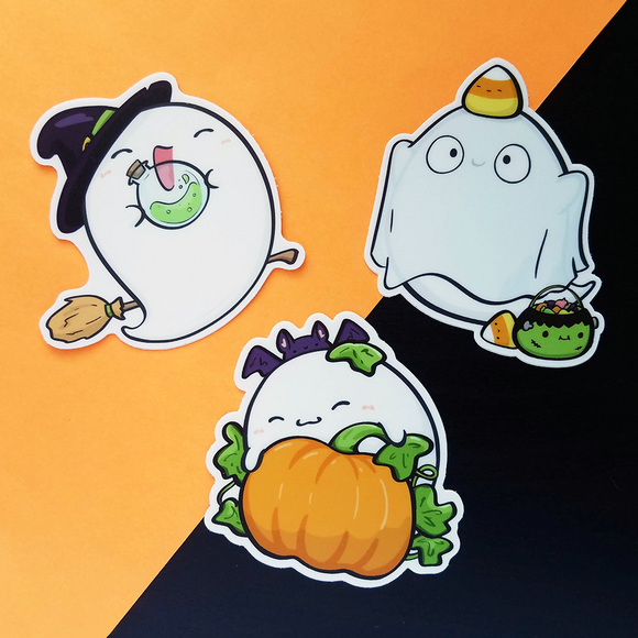 Ghost Cuddles Vinyl Sticker Set