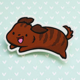 Dashi the Dachshund Vinyl Sticker