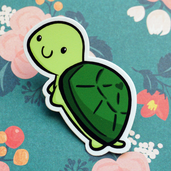 Tuttles the Turtle Vinyl Sticker