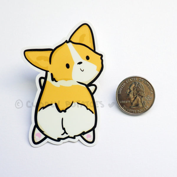 Miso the Corgi Vinyl Sticker