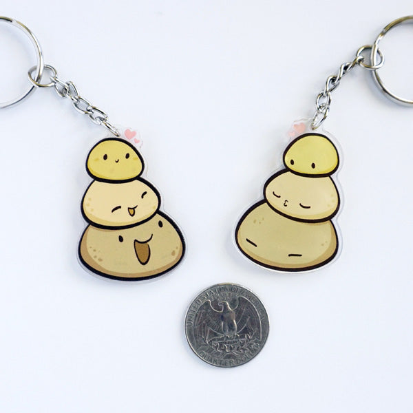 Potato Stack Acrylic Charm