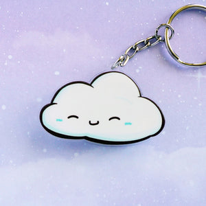Happy Cloud Acrylic Charm