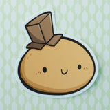 Cardboard Hat Potato Vinyl Sticker