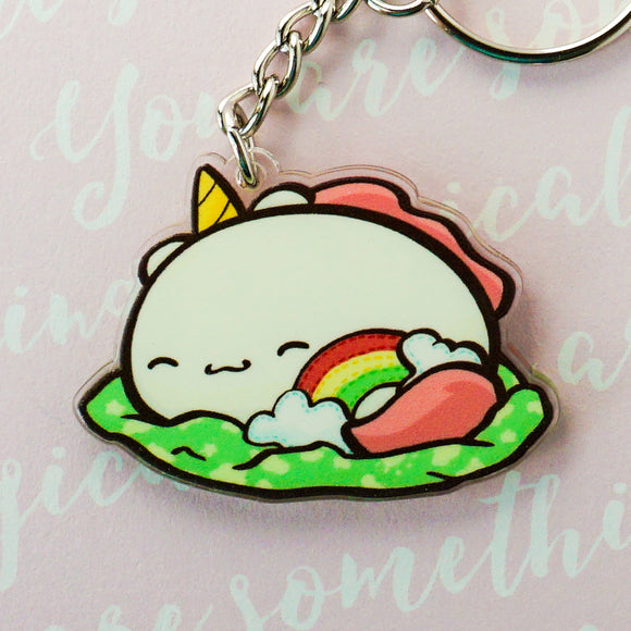 Sleepy Potatocorn Acrylic Charm