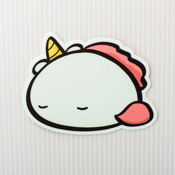 Sleepy Potatocorn Vinyl Sticker
