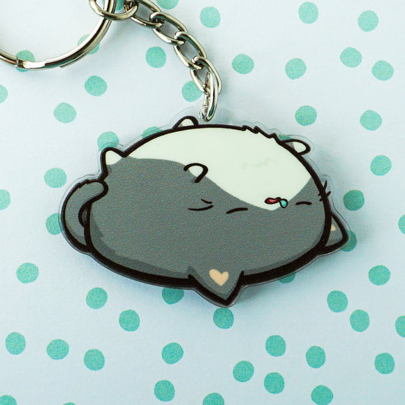 Sleepy Potatocat Acrylic Charm