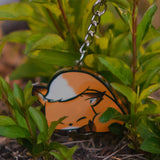Sleepy Flurfles the Fox Acrylic Charm