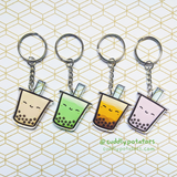 Boba Milk Tea Acrylic Charm (Assorted Flavors)