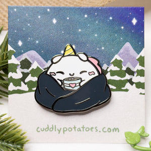 Cozy Cocoa Potatocorn Enamel Pin