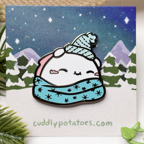 Snowy Snuggles Potatocorn Enamel Pin