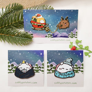 Winter Enamel Pin Set