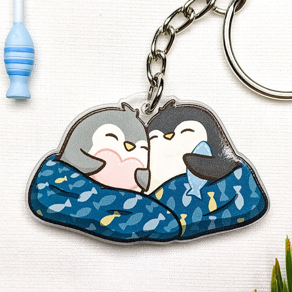 Penguin Couple Acrylic Charm