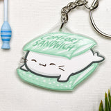 White Baby Seal Acrylic Charm