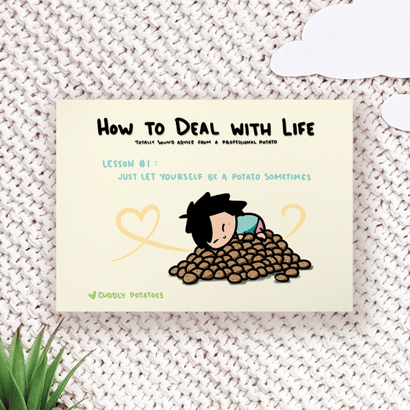 How to Deal with Life : Potato - Comic Print