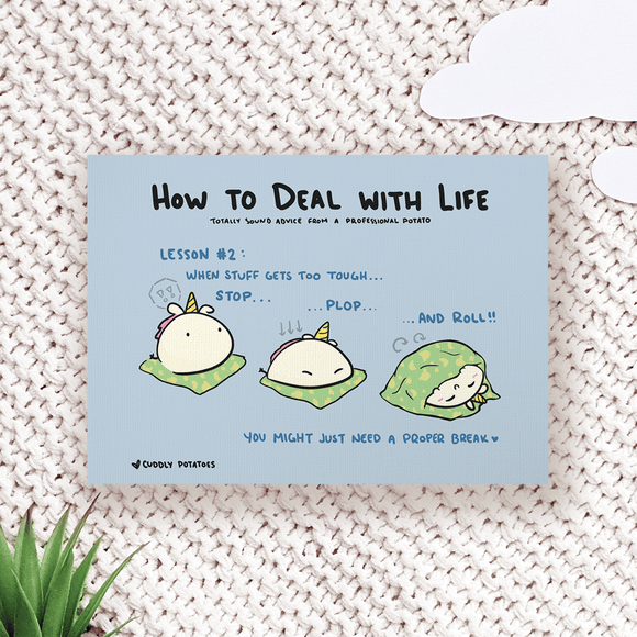 How to Deal with Life : Plop - Comic Print
