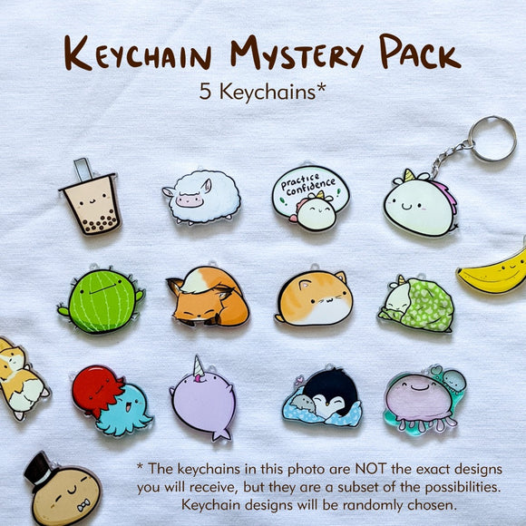 Imperfect Keychain & Pin Packs