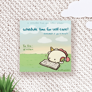 Schedule Time for Self Care - Comic Print