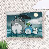 Growing Acorns with Totoro - Art Print