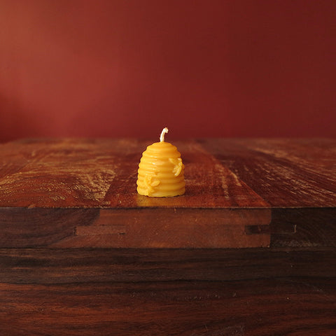 "Small Skep Candle - (1.5"" tall)"