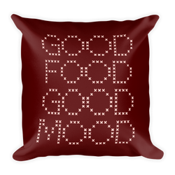 Juicy Talk Pillow Collection - Good Food, Good Mood - Burgundy