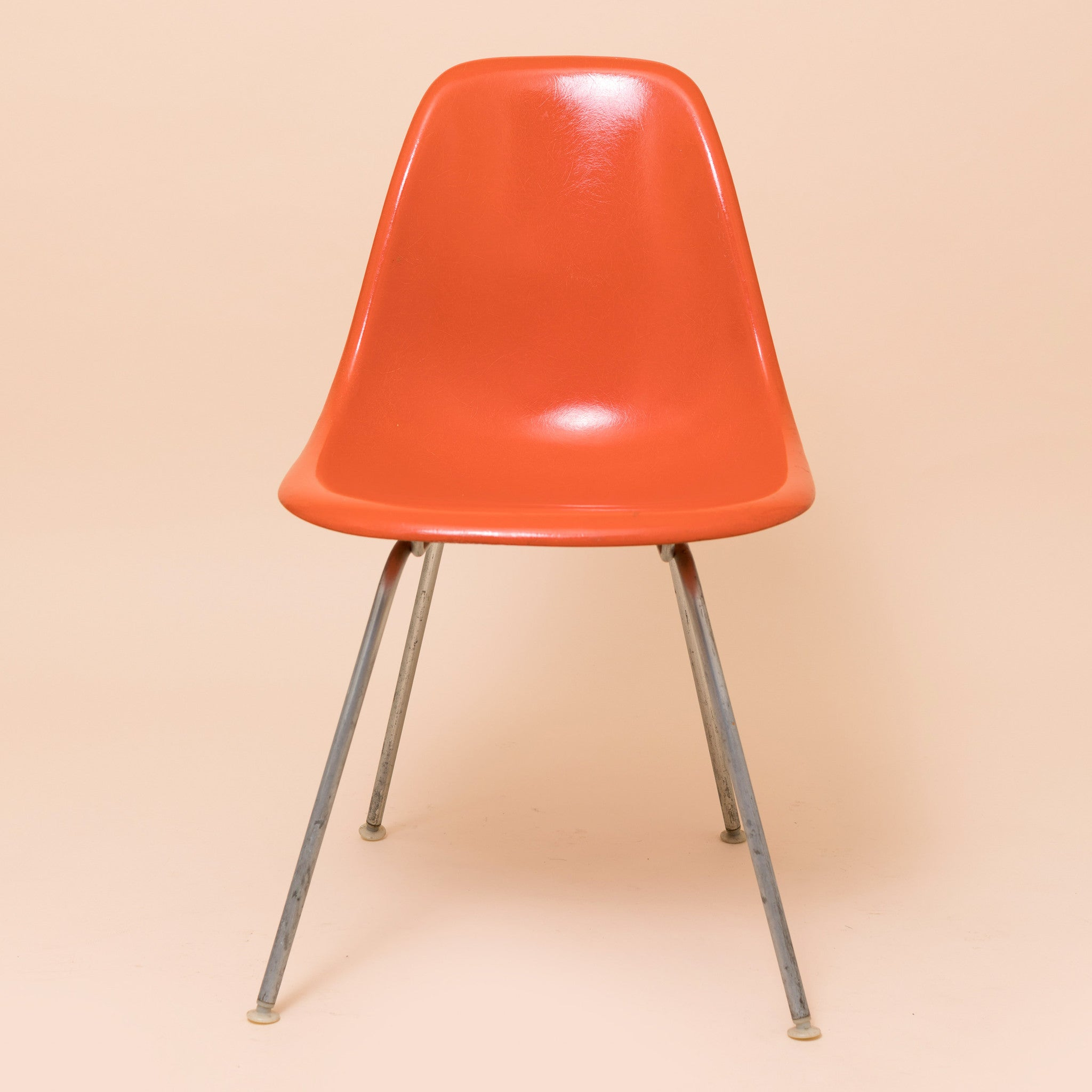 Incroyable ... Red Orange Herman Miller DSX Eames Chair ...