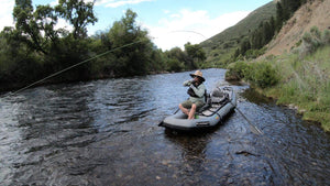 Dry Flies with Fly Fish Food in the Flycraft Stealth Inflatable Fishing Boat