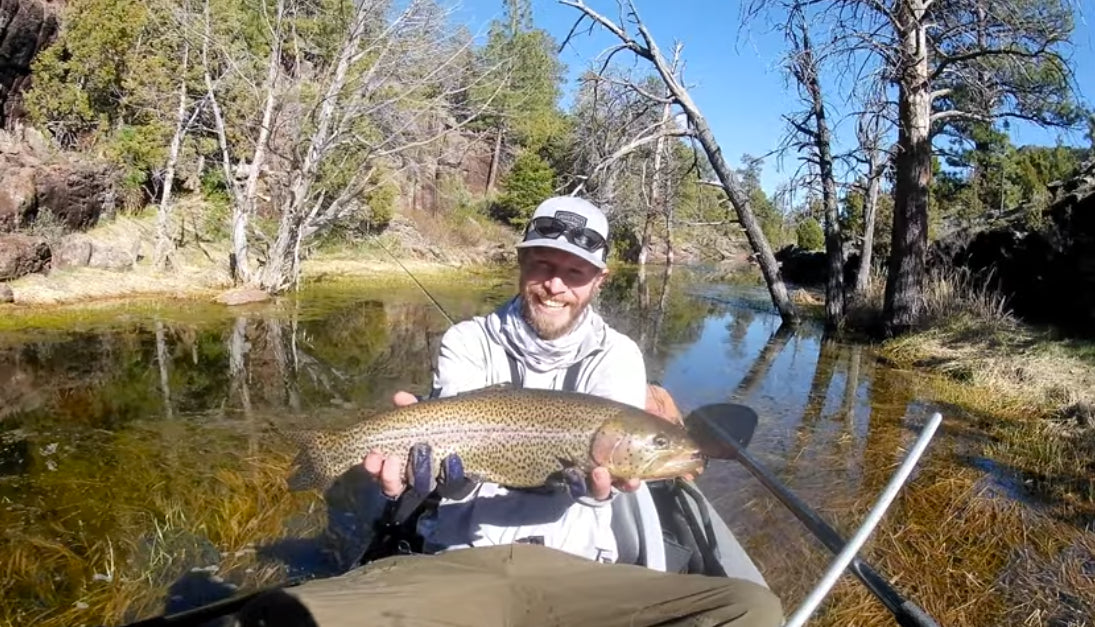 Fly Fishing for Fatty Rainbows from a Flycraft