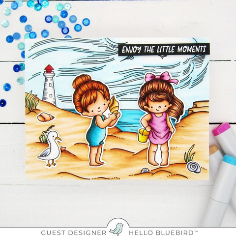 By the Sea Background Stamp