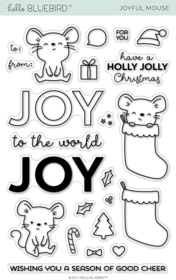 Joyful Mouse Stamp