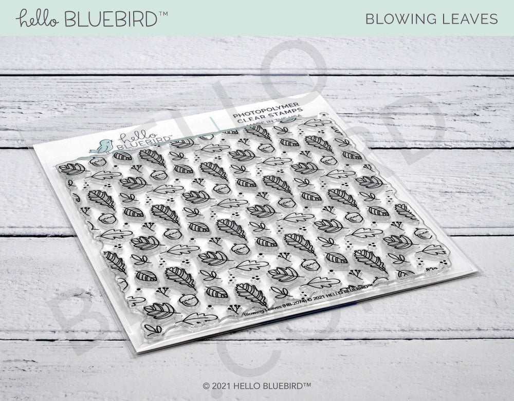 Blowing Leaves Background Stamp