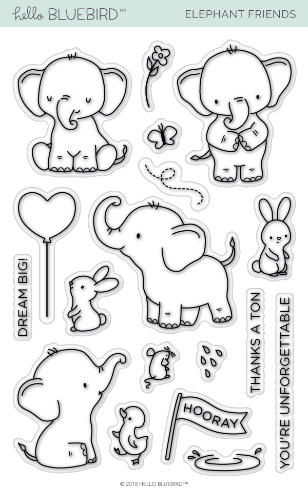 Elephant Friends Stamp