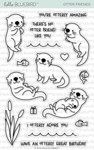 Otter Friends Stamp