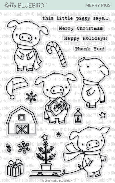 Merry Pigs Stamp