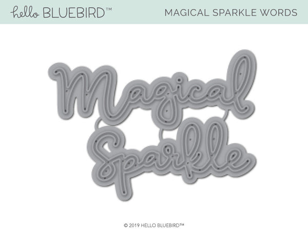 Magical Sparkle Words Die