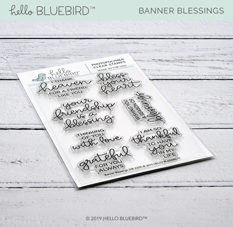 Banner Blessings Stamp