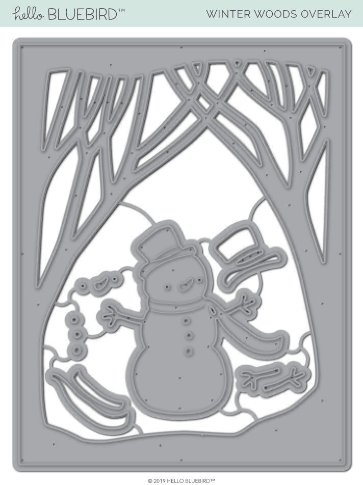 Winter Woods Overlay Die