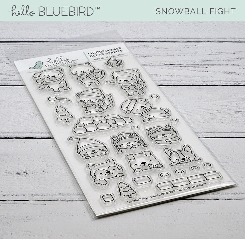 Snowball Fight Stamp