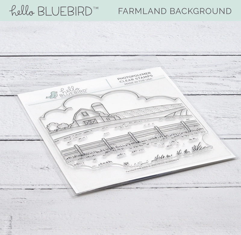 Farmland Background Stamp