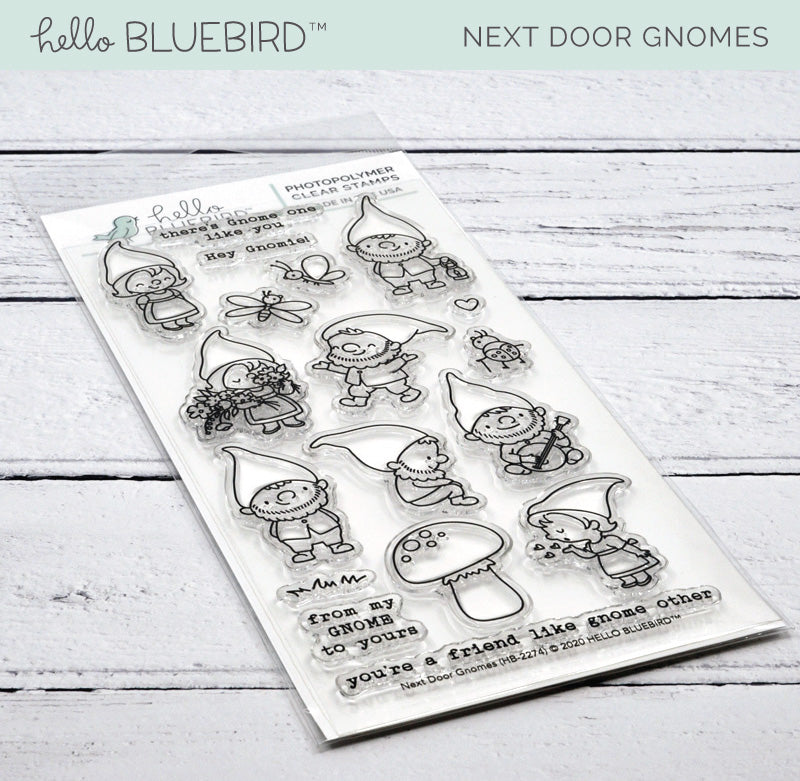 Next Door Gnomes Stamp
