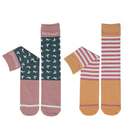 Horseware Kids Knee Socks 2-Pack